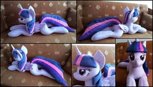 Lifesize Twilight Sparkle plush by RosaMariposaCrafts