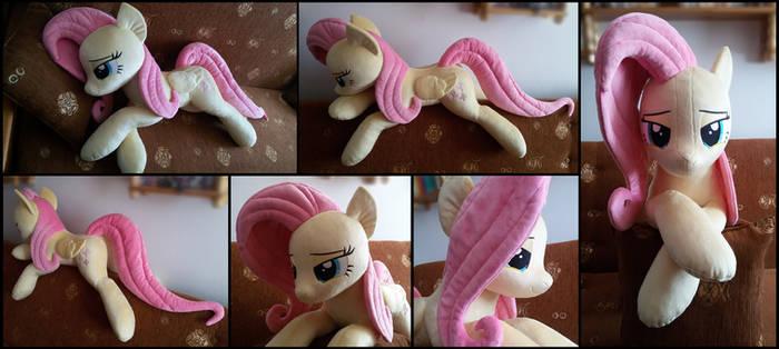 Cuddle size Fluttershy plush by RosaMariposaCrafts