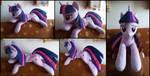 Cuddle size Twilight Sparkle plush by RosaMariposaCrafts