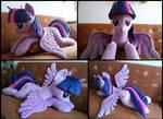 Cuddle size Twilight Sparkle plush by LittleFairysWonders