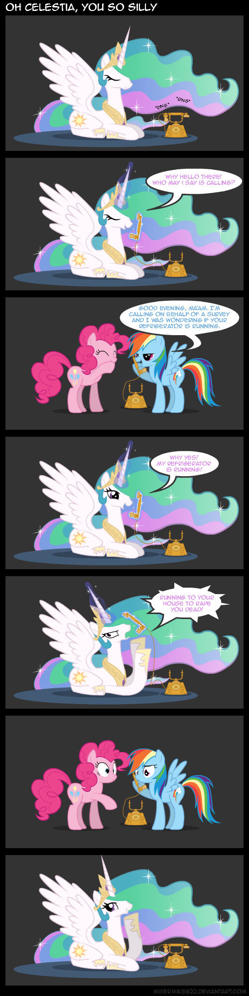Silly Celestia by Mixermike622