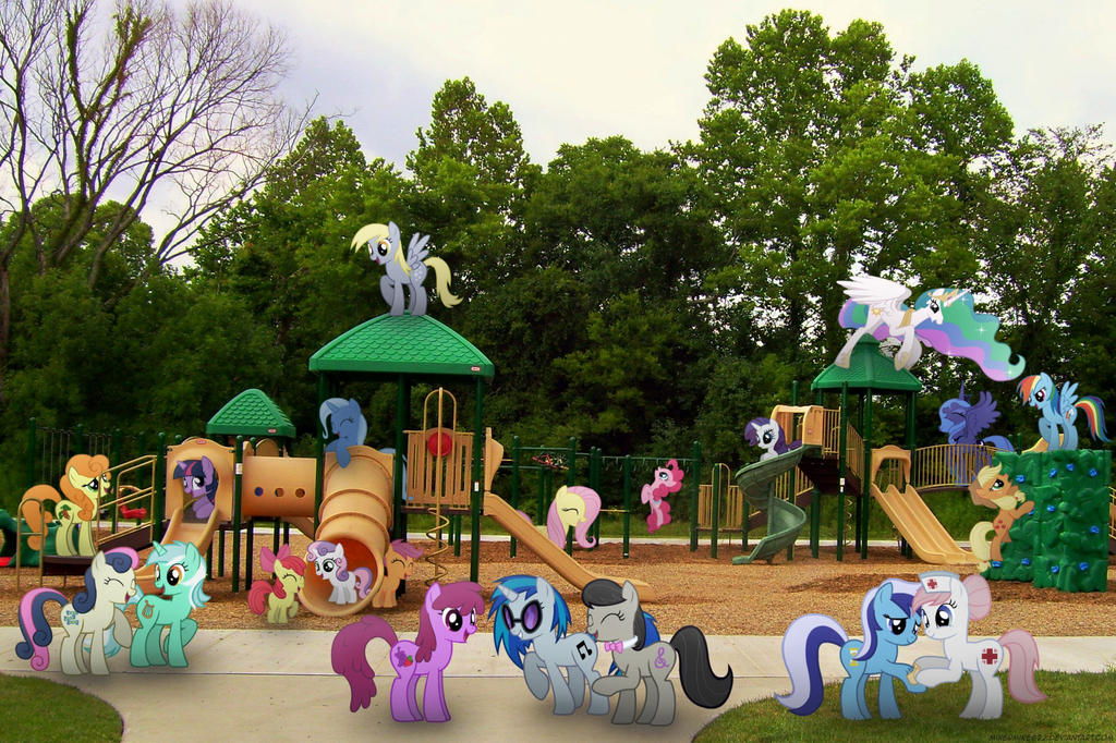 Ponies at the Park by Mixermike622