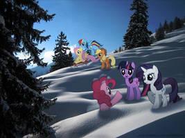 Snowy Hill by FlufflePuff622