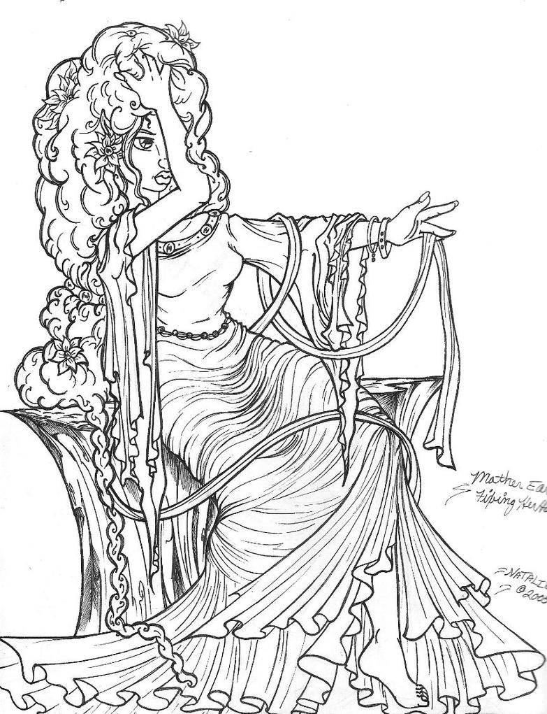 adult fantasy coloring pages - photo#18