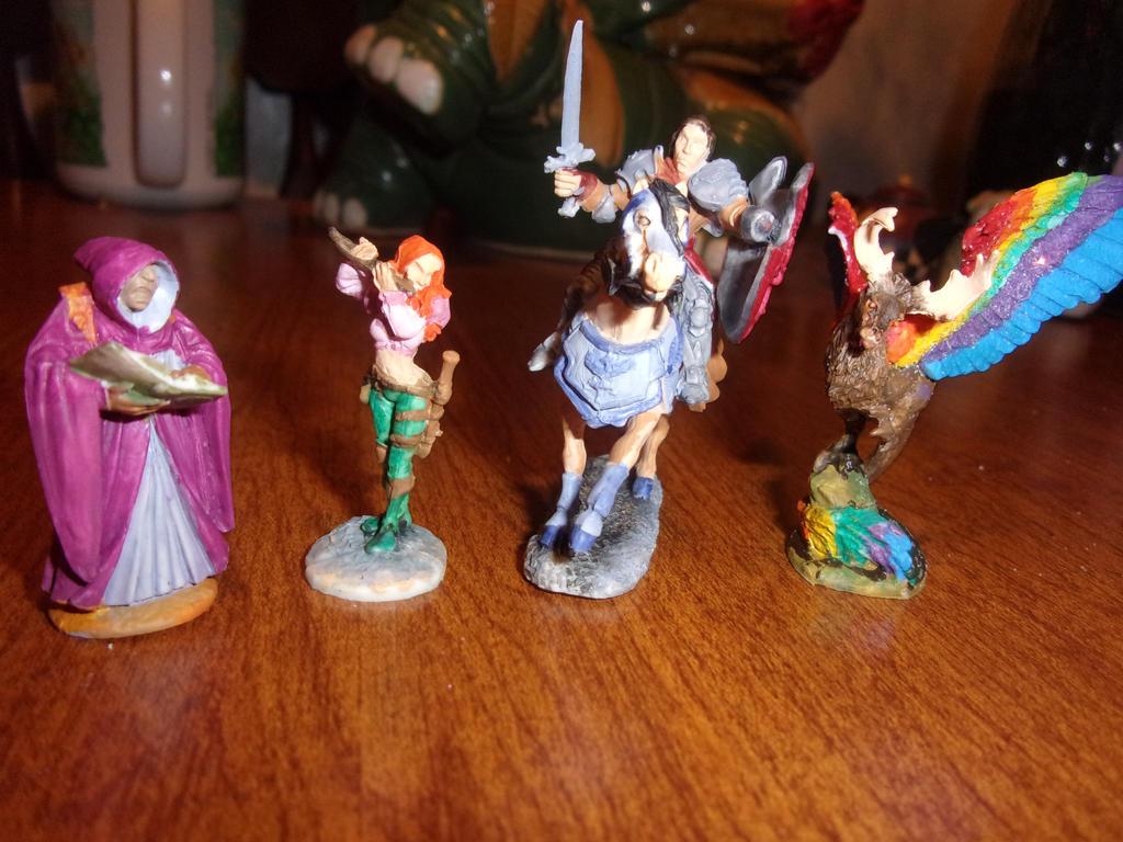 Lightening League figures 2 by dracodawnstar