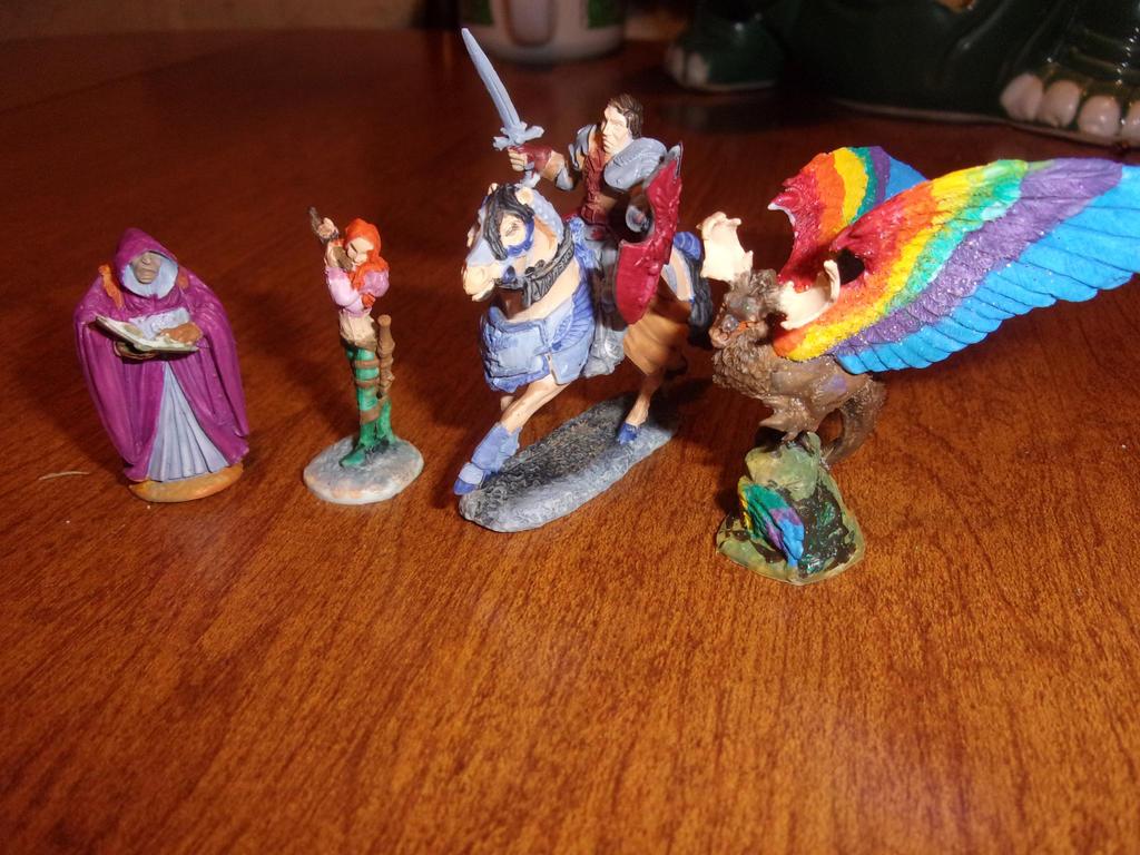 Lightening League figures 1 by dracodawnstar