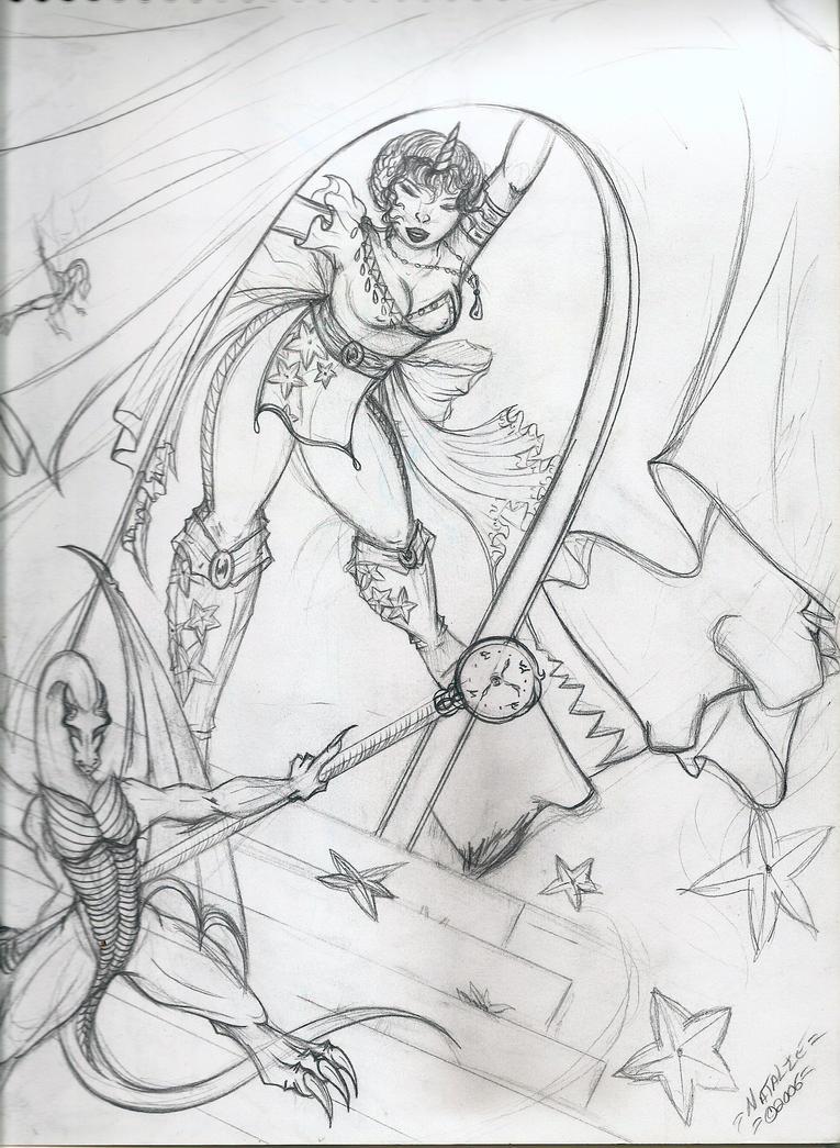 Starry Costume Sketch by dracodawnstar