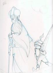 Gillian And Oon Pencil by dracodawnstar