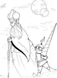 Gillian And Oon Ink by dracodawnstar
