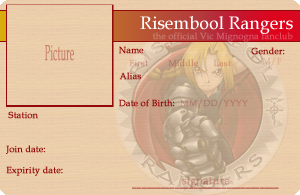 Risembool Rangers ID Card by KariLavern