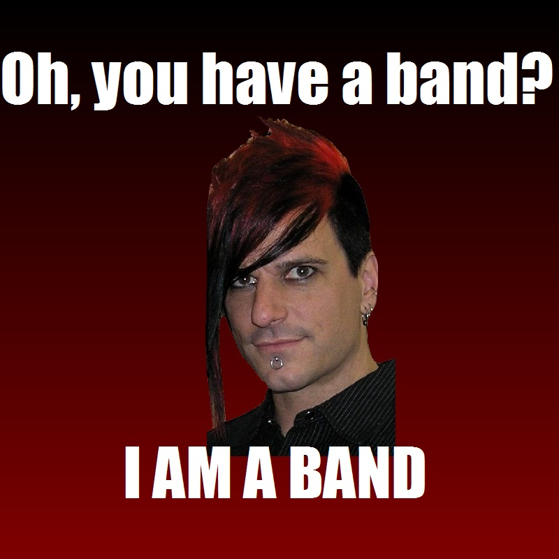 Klayton Meme: Band by Yohan-Gas-Mask