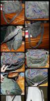 Stitched-Bird Bag by TellerofTales