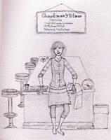 Diner Girl sketchy by TellerofTales