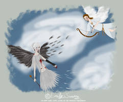 Falling Angel for Rikukitty by TellerofTales