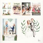 Wedding invitation (story book)