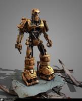 Judge Dredd ABC Robot by pauloduarte
