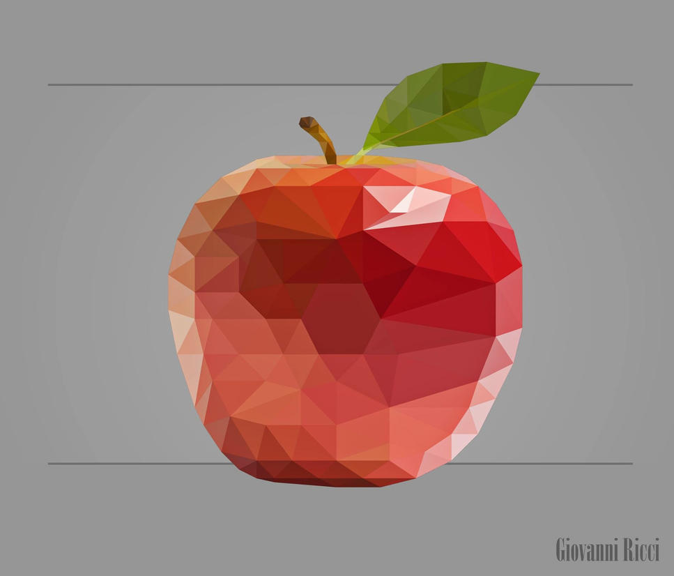 Top Apple - low poly art by gvricci on DeviantArt WJ99