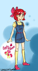 MLP: Human Apple Bloom by thelifeofabinder