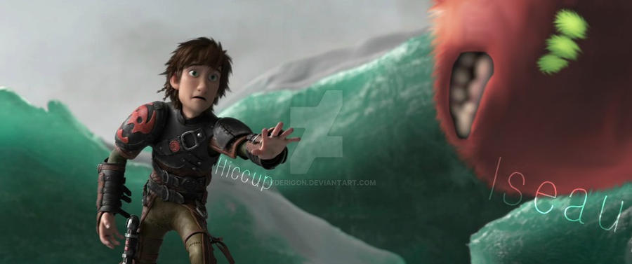 Hiccup and Iseau by HyderIGON