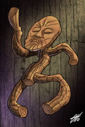 Wooden old man dancer by Ottinho