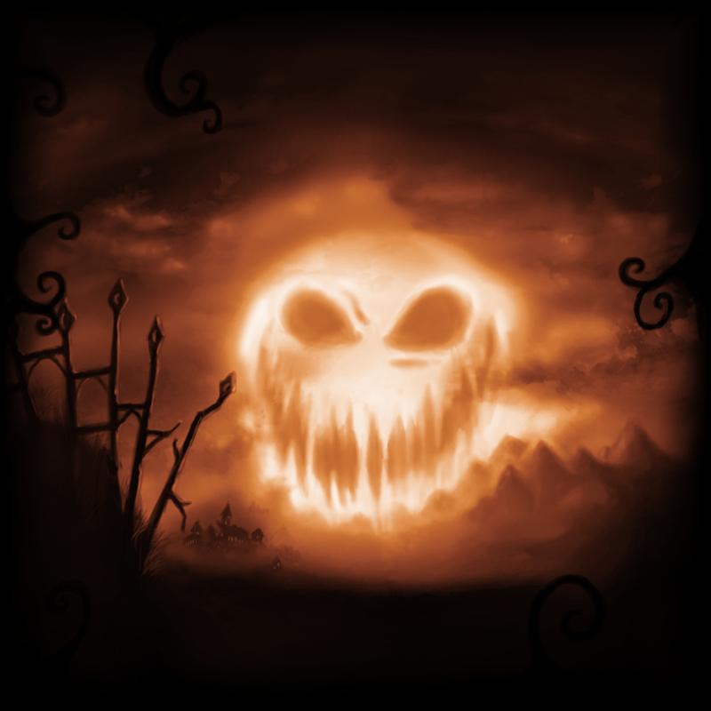 A cloudy Moon Halloween by AllyEatsNoSquid on DeviantArt