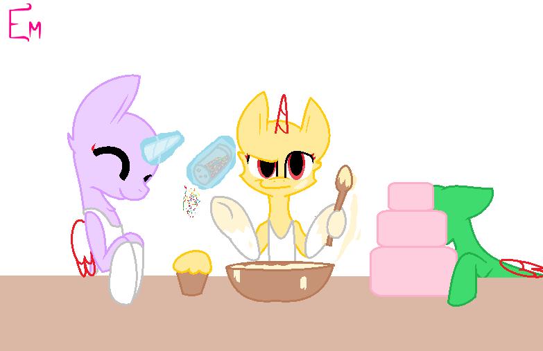 Pony Eating Birthday Cake