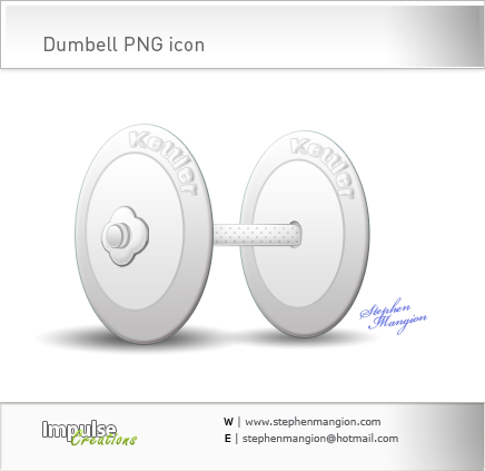 Dumbell PNG icon by mangion