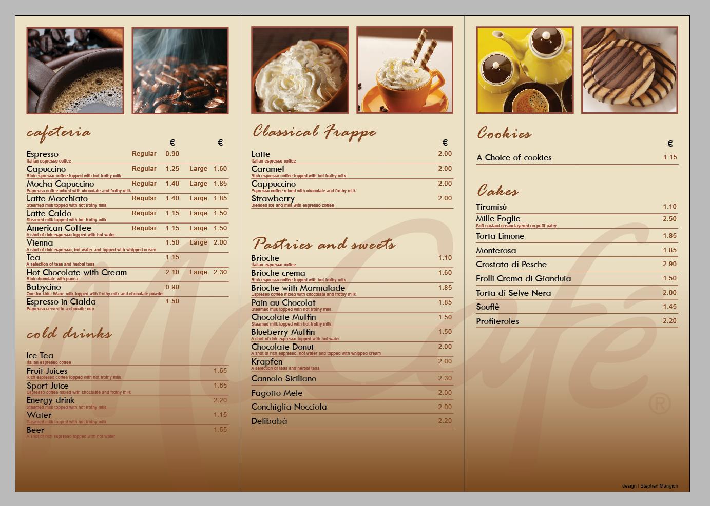 mccafe menu design inlay by mangion on deviantart