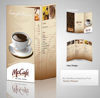 McCafe Menu design showcase