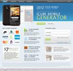 Mobile Site Generator App