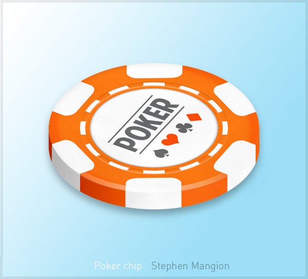 Poker chip artwork by mangion