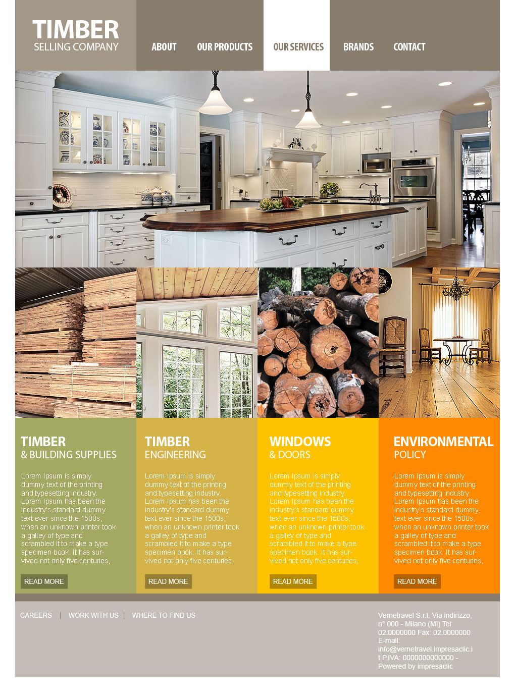 Local timber web site by mangion
