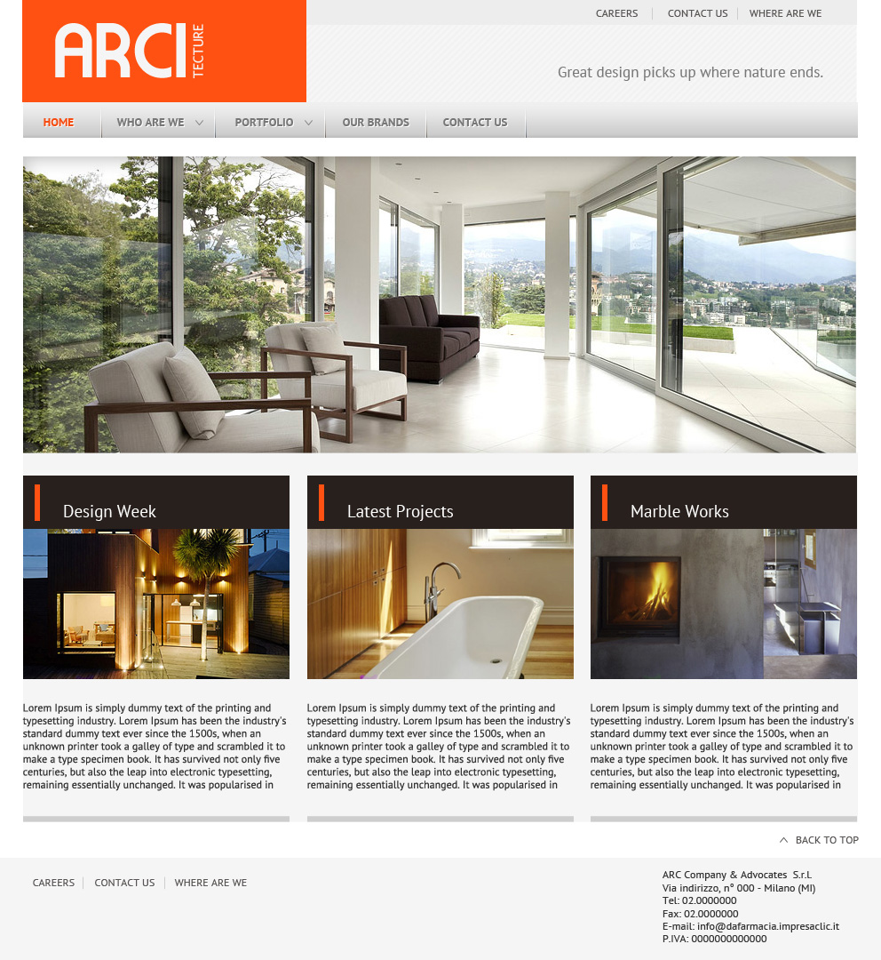 Architecture site layout minimalistic design by mangion for Architecture website design