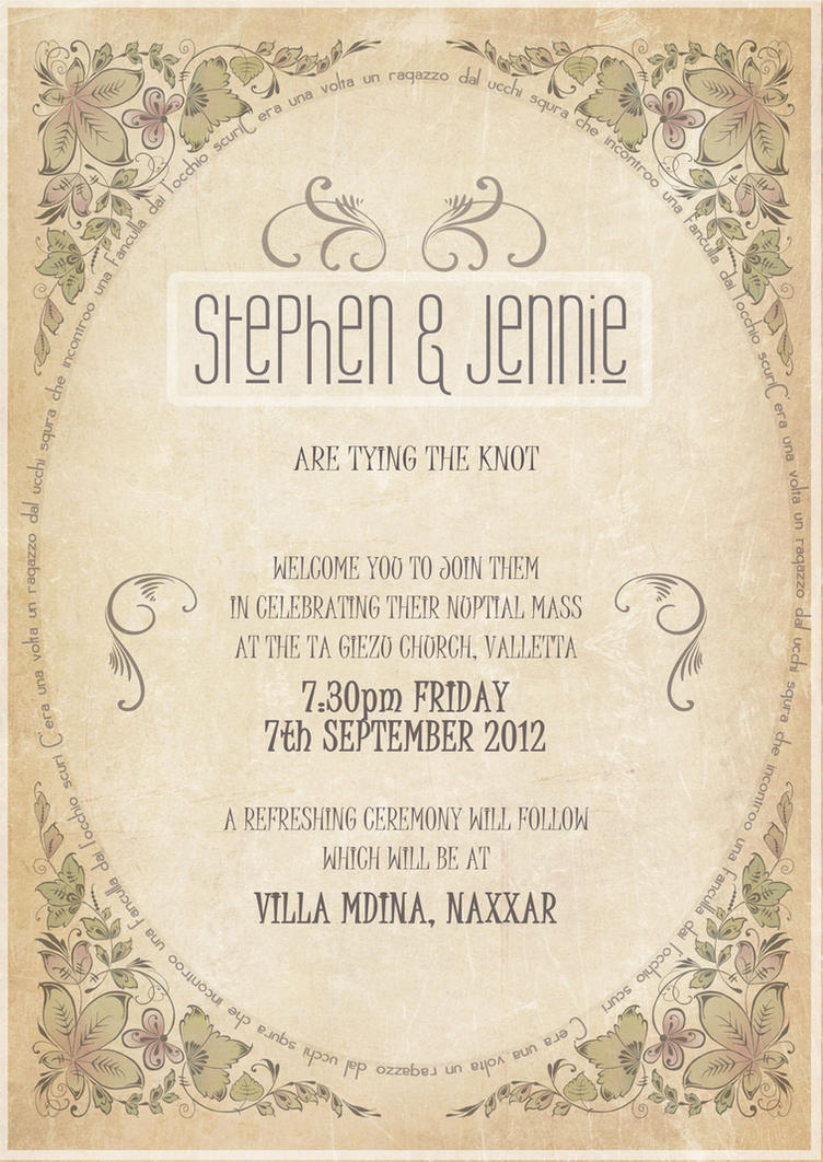 Wedding Invitation by mangion