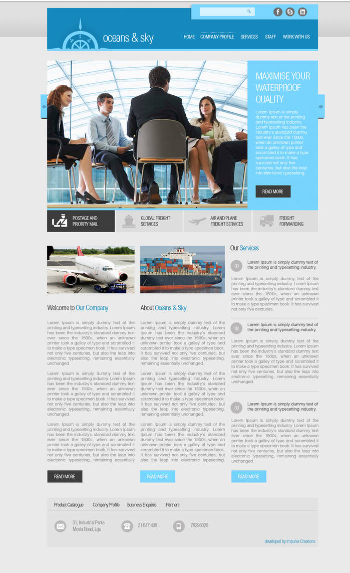 Shipping Web Design project by mangion