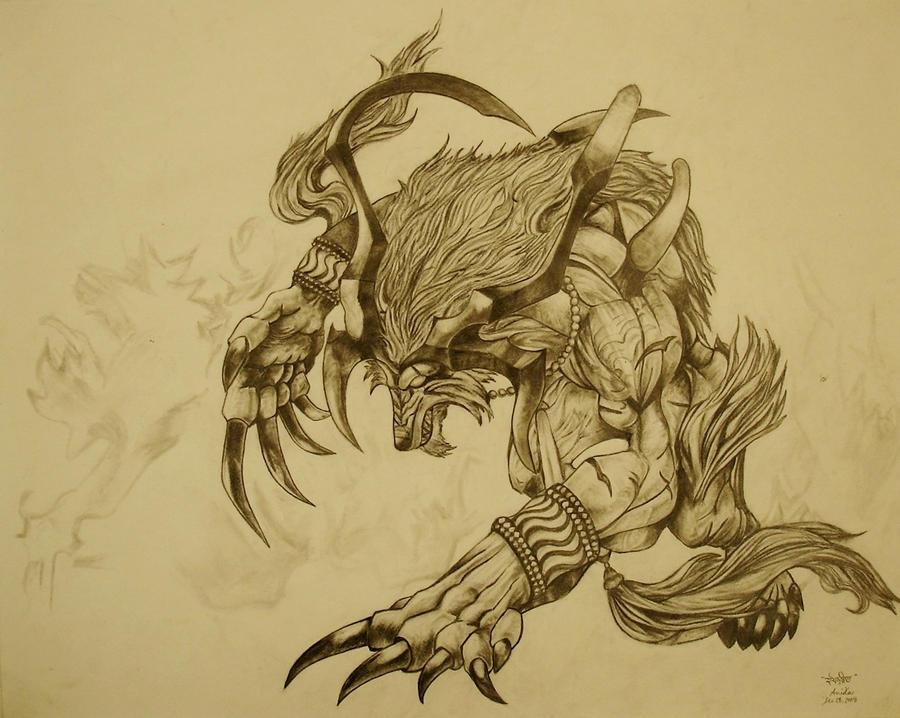 Ifrit Final Fantasy 10 by Cydonika