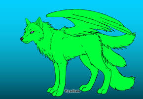 Flying Mint Wolf Adoptable