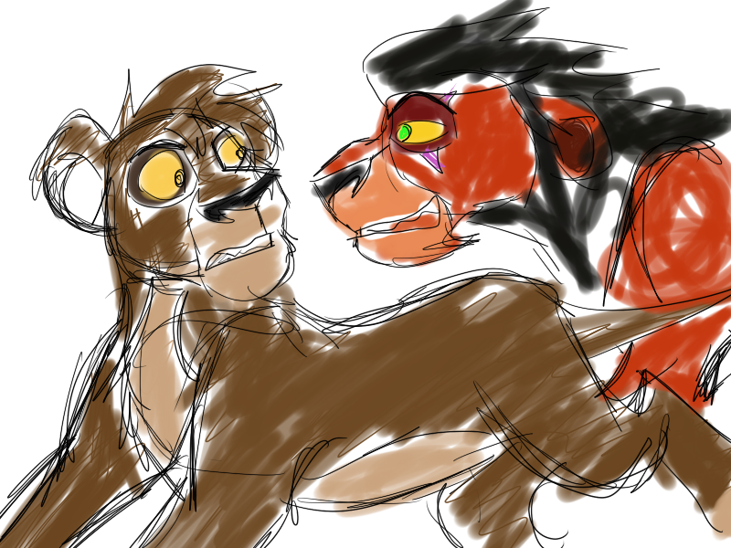 Boto Ch2 Concept Art Neema And Scar By Nanthecowdog On
