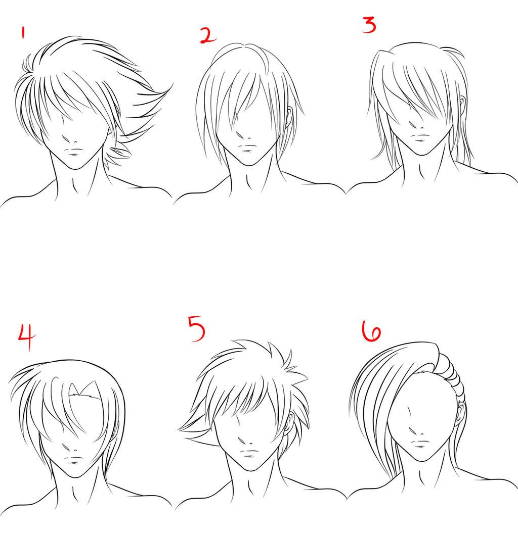 Anime Male Hair Style 1 By Ruuruu Chan On Deviantart