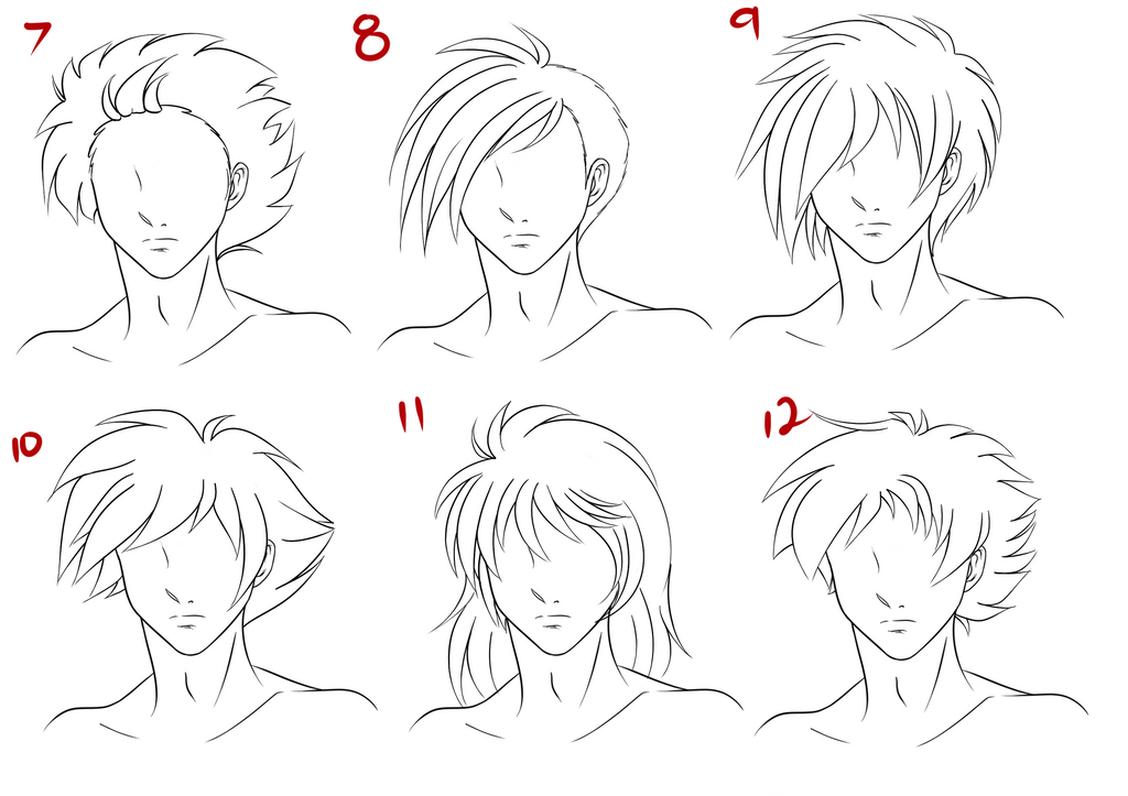 Top Image Of Anime Hairstyles Male