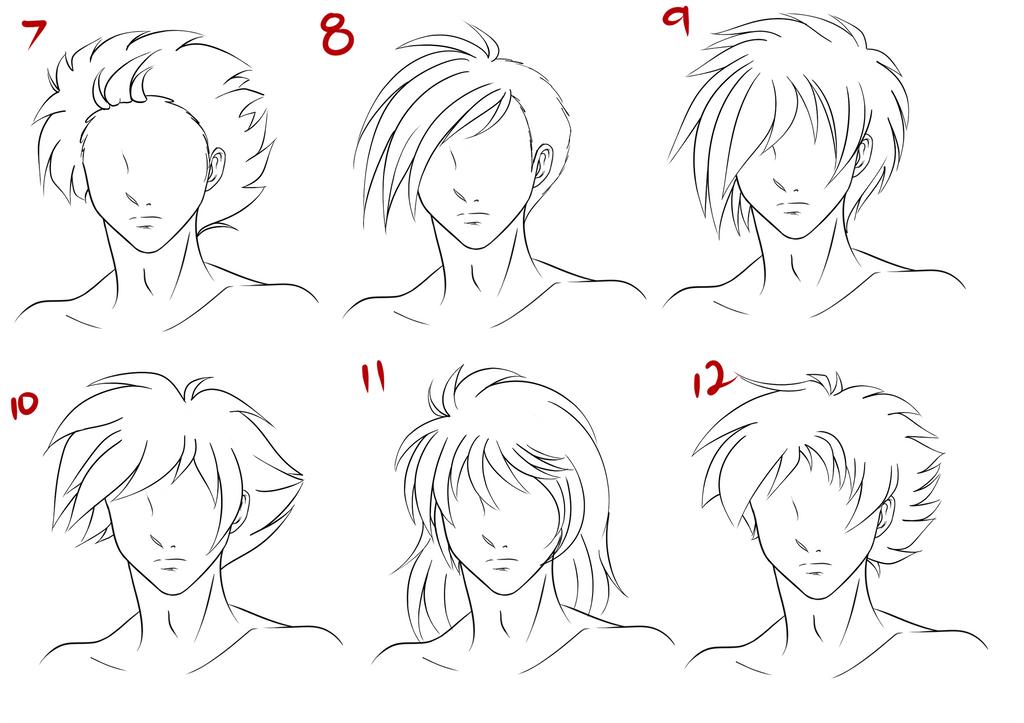 anime male hair style 2 by ruuruu chan on deviantart