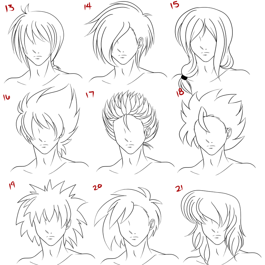 anime male hair style 3 by ruuruuchan on deviantart