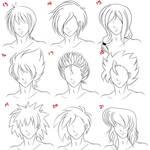 Anime Male Hair Style 3
