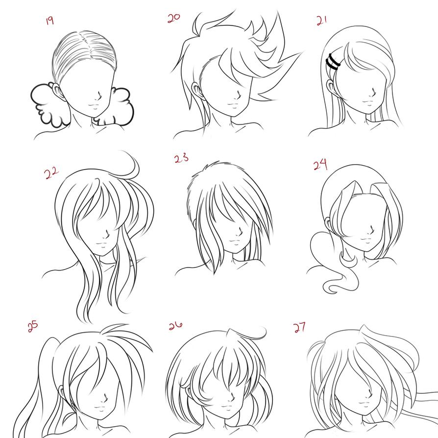 Anime Female Hair Style 3 By Ruuruu Chan On Deviantart