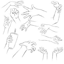 Hand Practice 1 by RuuRuu-Chan