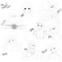 Face sketches by RuuRuu-Chan