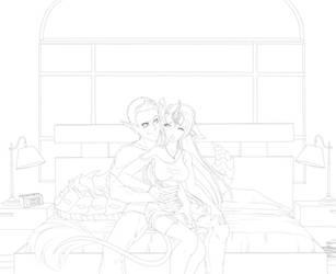 Damian and Rue WIP by RuuRuu-Chan