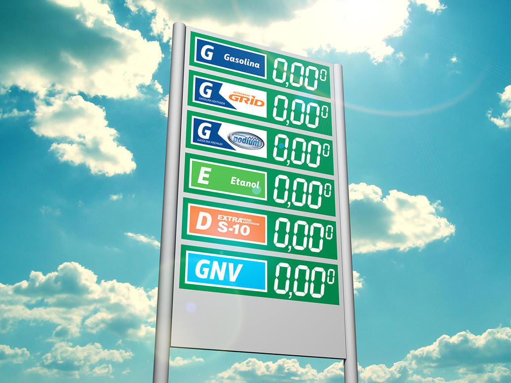 Shopping Vale Fuel Price Totem by LGRuffa