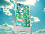 Shopping Vale Fuel Price Totem