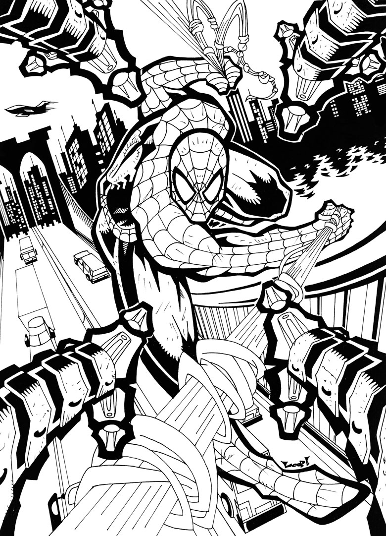 ultimate spiderman coloring pages free here